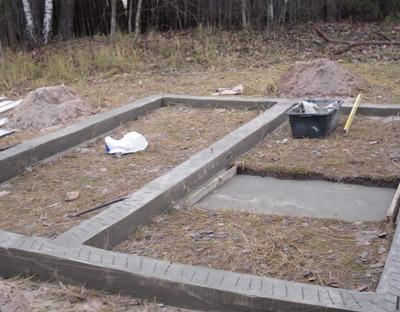 Фундамент под баню из пеноблоков