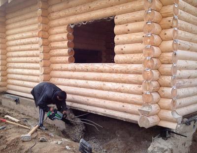 Фундамент под стоящий дом